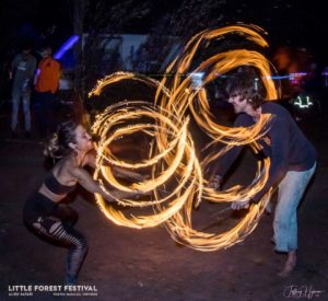 little forest festival new year fire circle