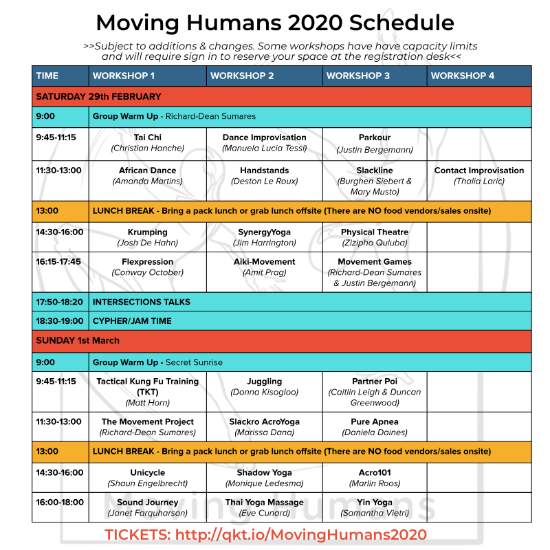 Moving humans 202 schedule flow arts
