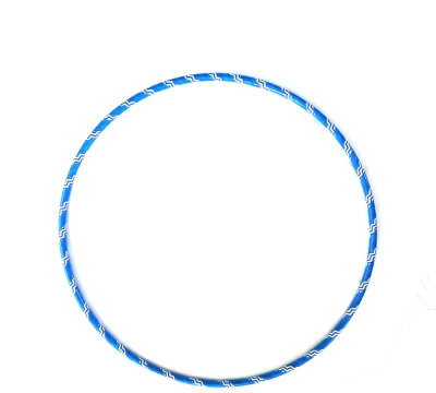 Pattern Hoop Blue and White Zig Zag