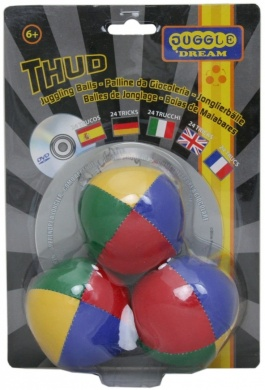 Pack of 3 x Juggling Balls & Instructional DVD
